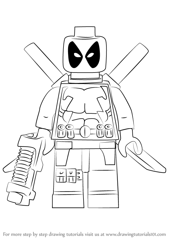 lego deadpool coloring pages deadpool chibi drawing at getdrawings free download pages deadpool coloring lego