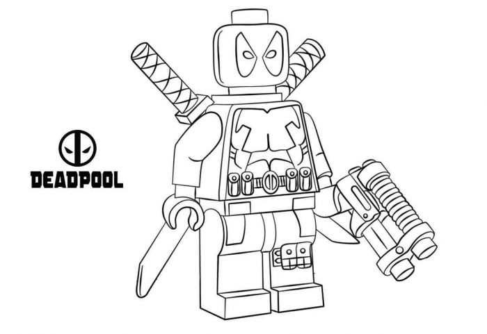 lego deadpool coloring pages easy lego deadpool coloring pages cartoon coloring book coloring deadpool pages lego