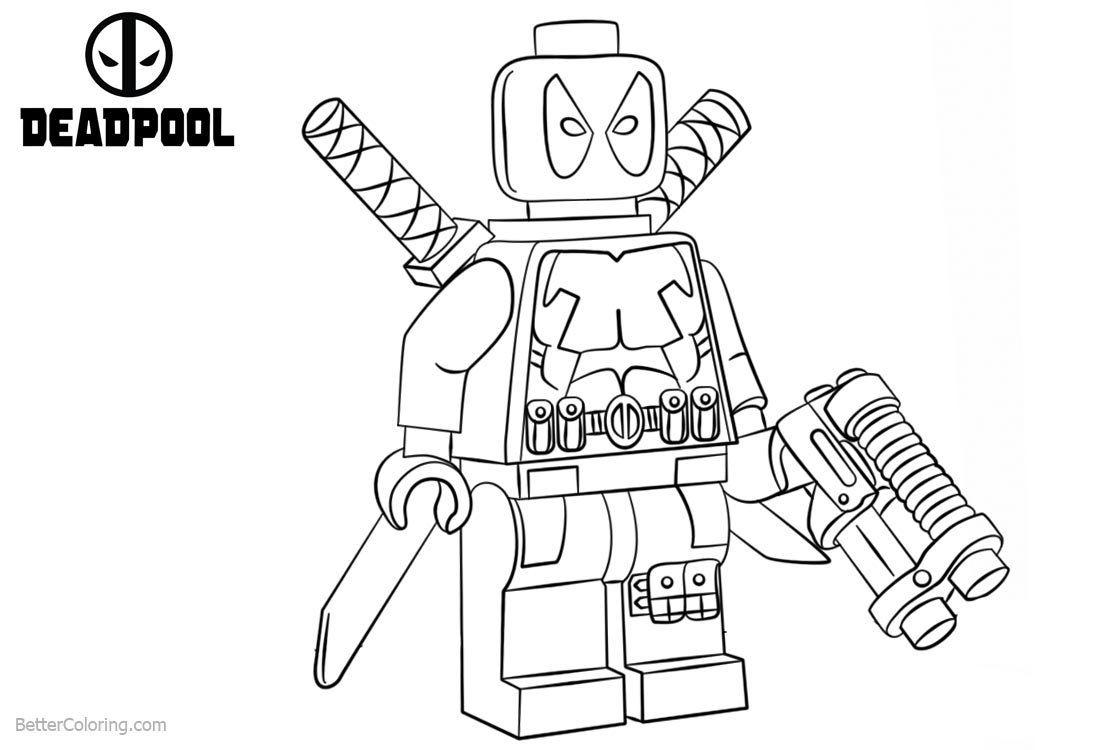 lego deadpool coloring pages free printable deadpool coloring pages coloring deadpool pages lego