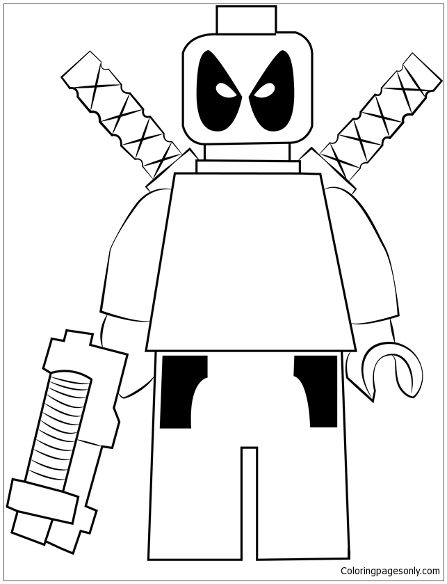 lego deadpool coloring pages lego deadpool 1 coloring page free coloring pages online pages deadpool coloring lego