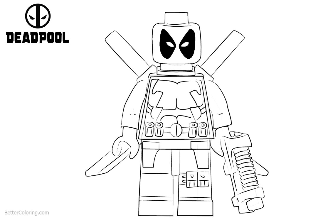 lego deadpool coloring pages lego deadpool coloring pages fighting free printable deadpool coloring pages lego