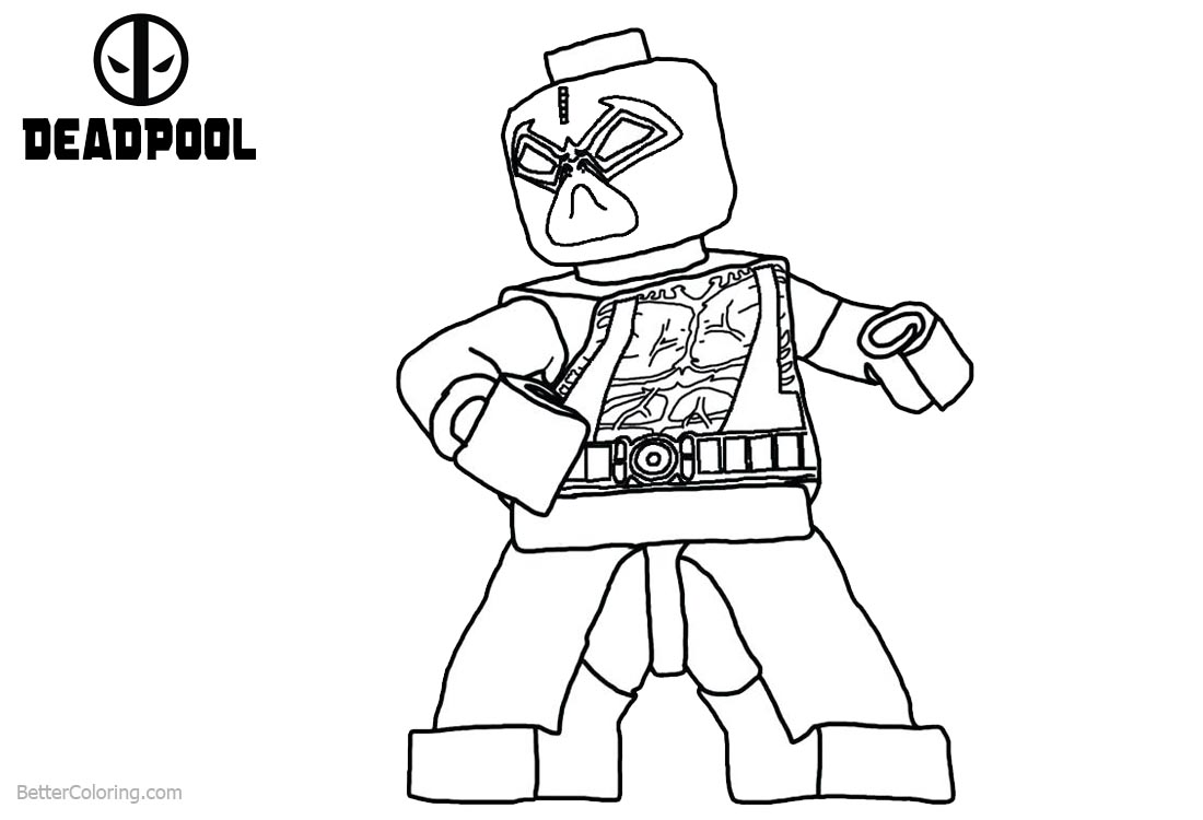 lego deadpool coloring pages lego deadpool coloring pages line drawing free printable lego deadpool coloring pages