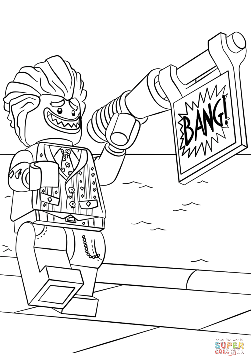 lego joker coloring pages coloring page for kids lego joker from the lego batman pages coloring lego joker