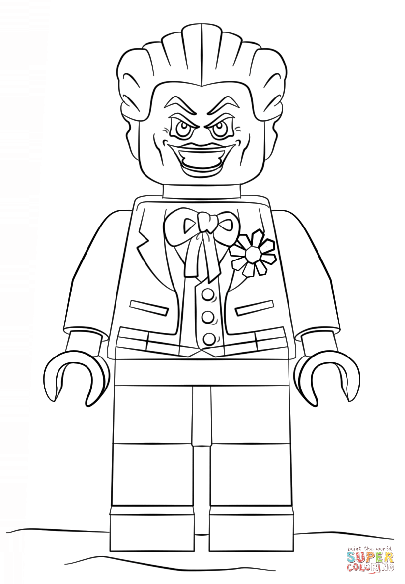 lego joker coloring pages lego the joker coloring page free printable coloring pages coloring joker lego pages