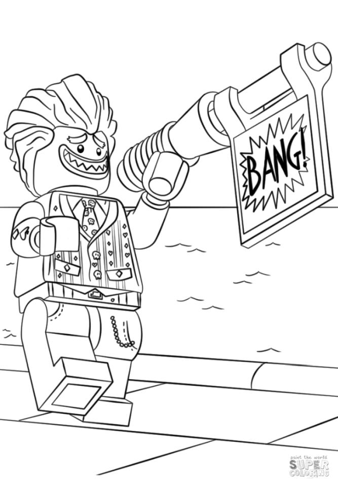 lego joker coloring pages printable lego joker and his weapon free sheets coloring page coloring joker lego pages