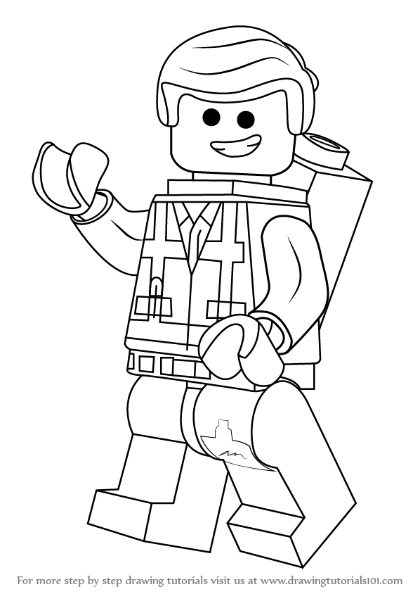 lego movie emmet coloring page learn how to draw emmet brickowski from the lego movie movie page coloring lego emmet