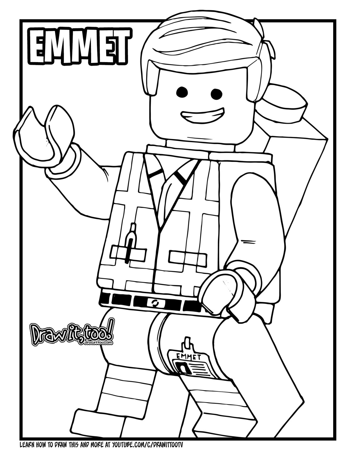 lego movie emmet coloring page lucy lego movie 2 coloring pages emmet coloring lego page movie