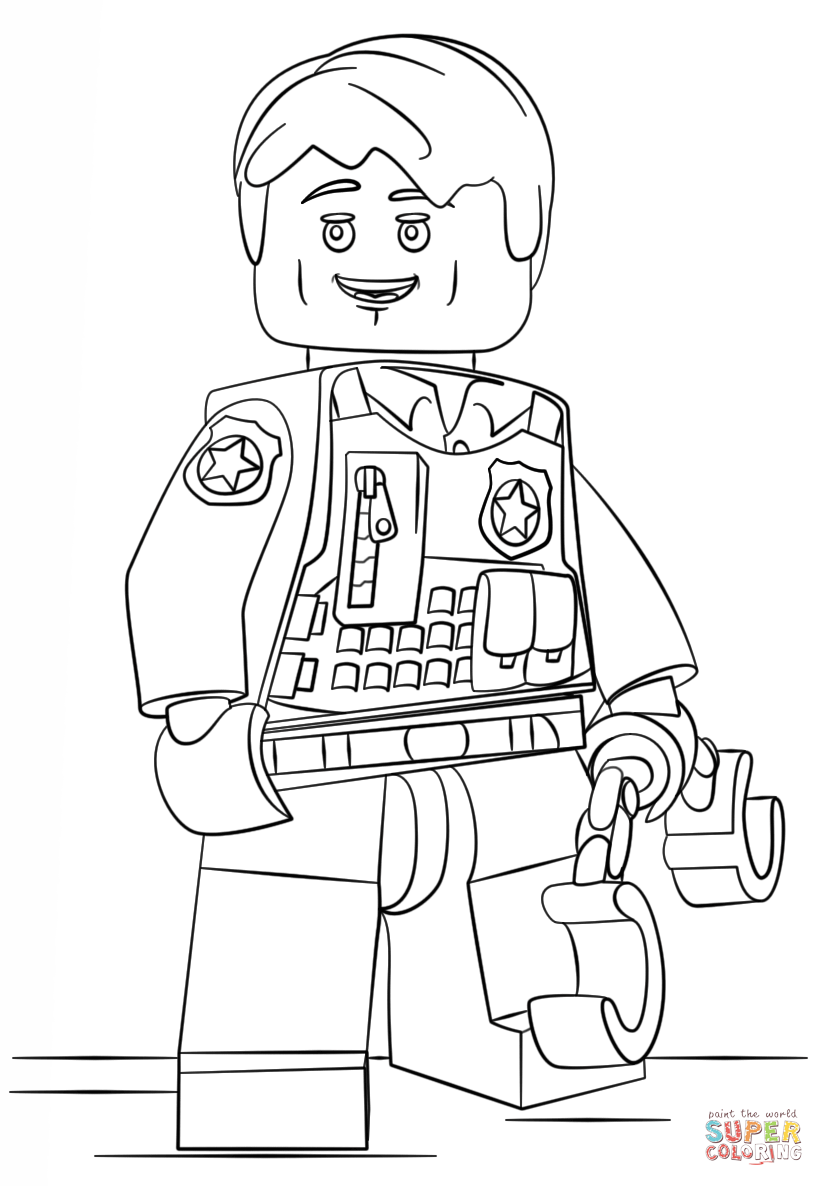 lego police officer coloring page free printable police officer coloring pages 13 image page police officer lego coloring