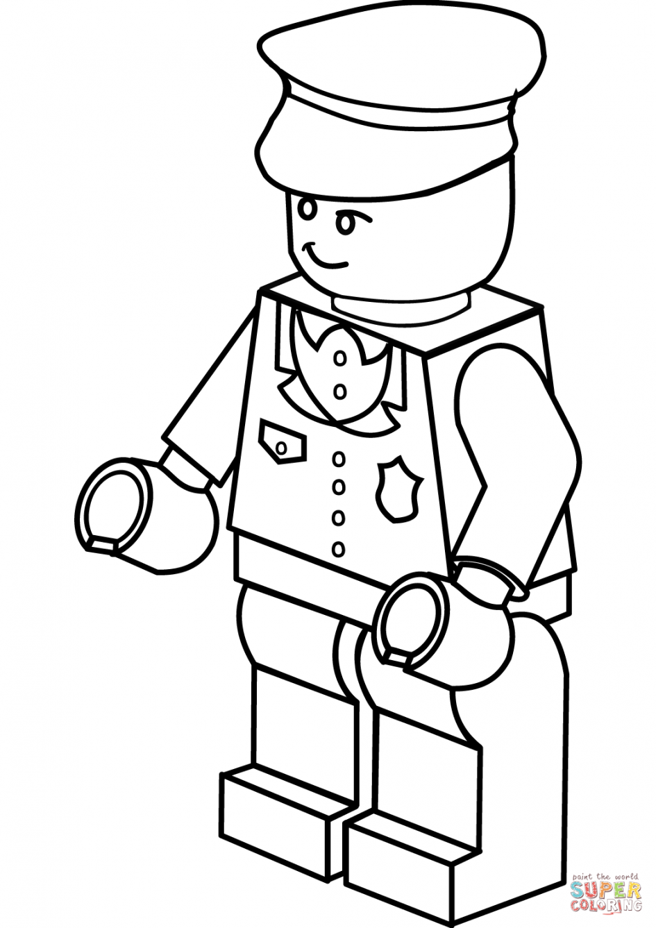 lego police officer coloring page lego police coloring pages color online free printable page officer lego police coloring