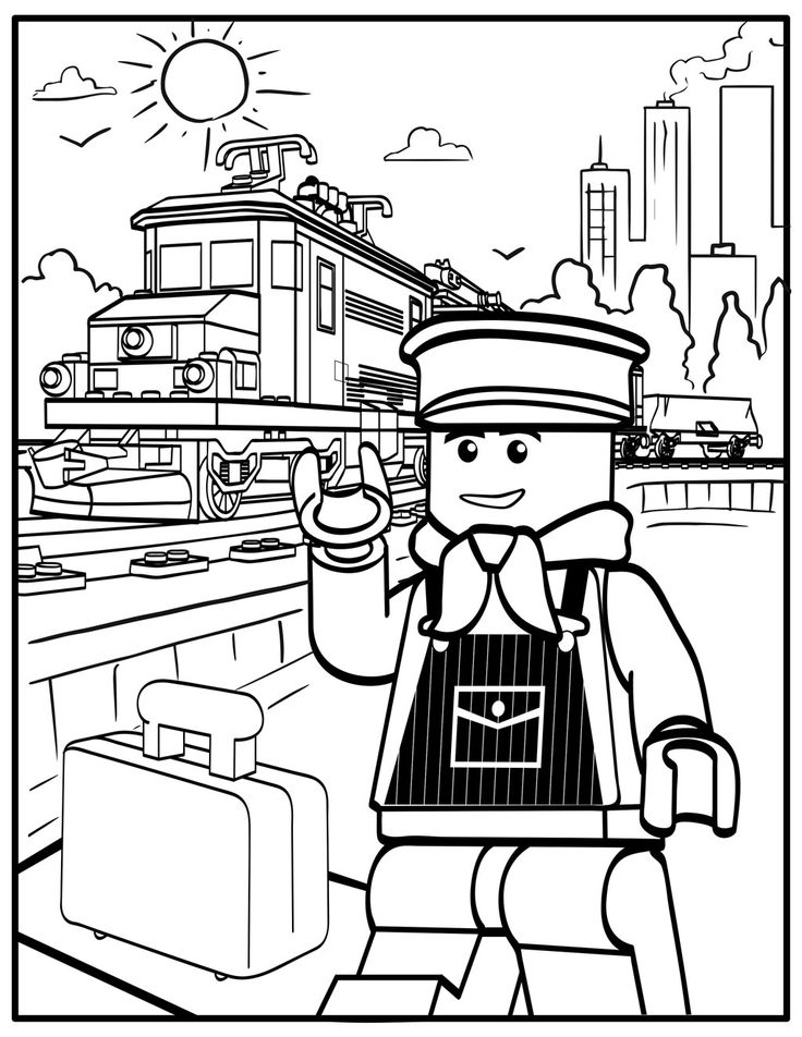 lego train coloring pages train station drawing at getdrawings free download coloring lego train pages