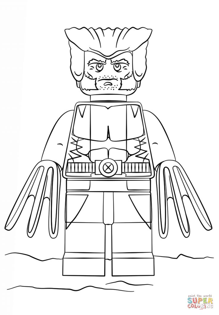 lego wolverine coloring pages printable wolverine coloring pages for kids cool2bkids wolverine lego coloring pages