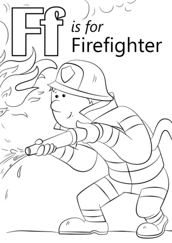 letter f coloring worksheets letter f is for firefighter coloring page free printable worksheets coloring letter f