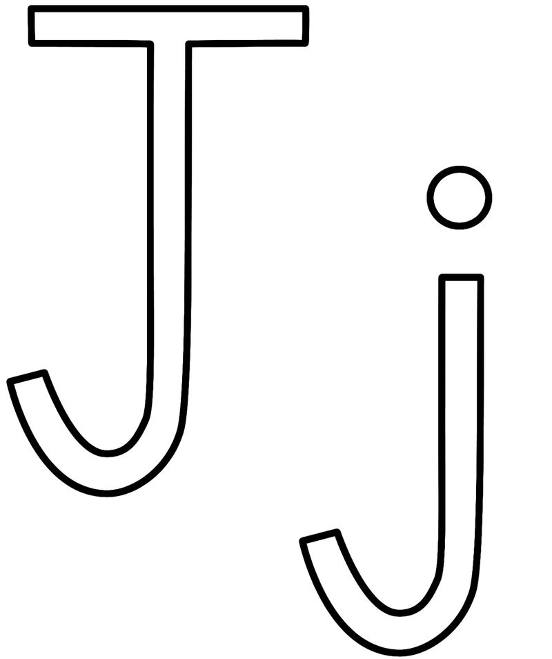 letter j coloring pictures free printable coloring page for the letter j with upper j letter pictures coloring