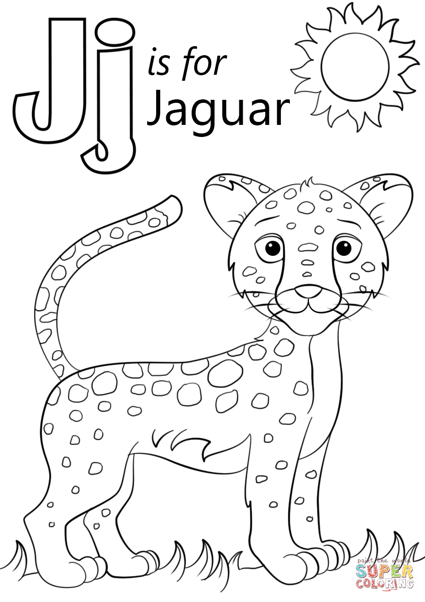 letter j coloring pictures letter j is for jaguar coloring page free printable j pictures coloring letter