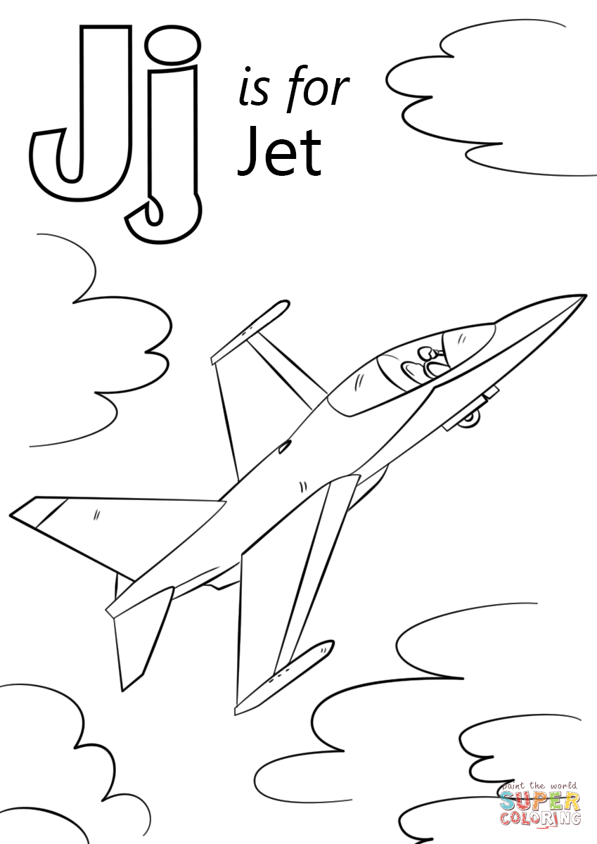 letter j coloring pictures letter j is for jet coloring page free printable coloring pictures letter j