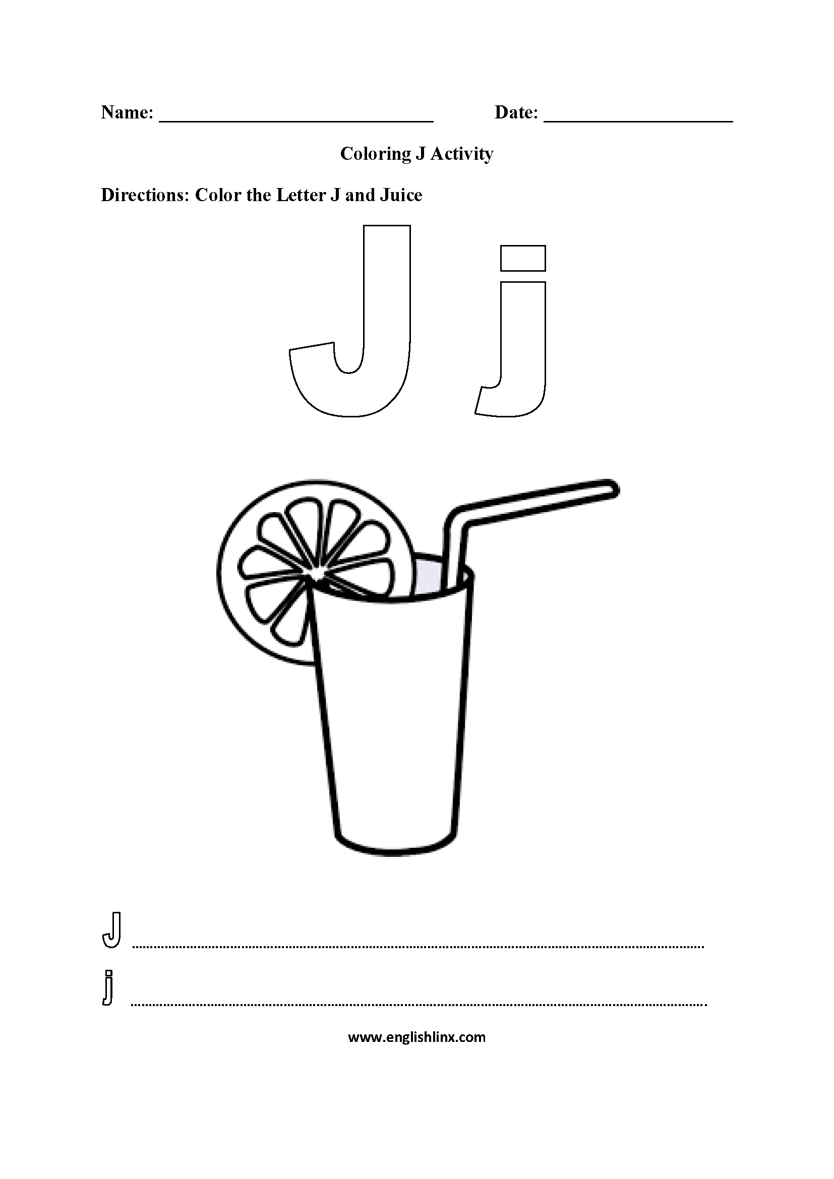 letter j coloring pictures letter j worksheet coloring pages pictures coloring letter j