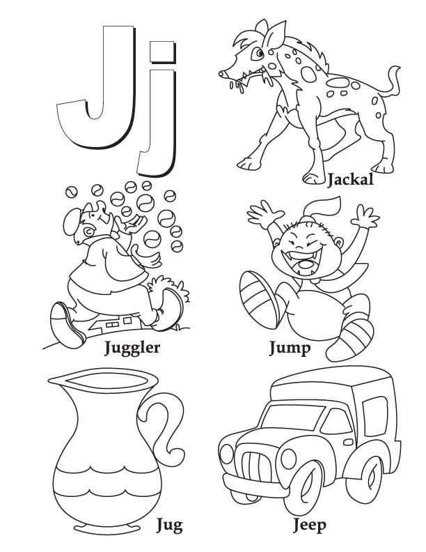 letter j coloring pictures my a to z coloring book letter j coloring page alphabet j pictures letter coloring