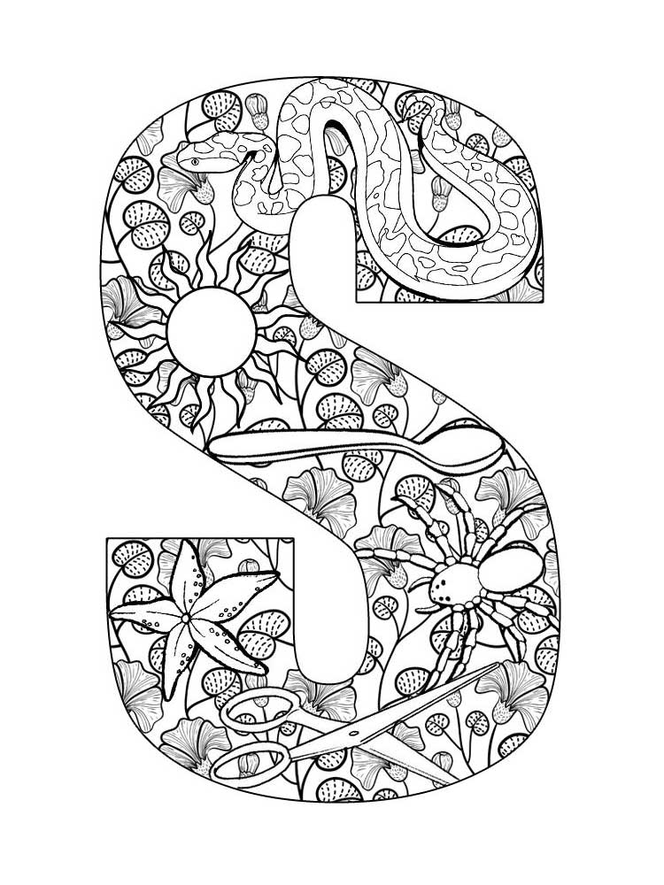 letter s coloring letter s best cool funny s coloring letter