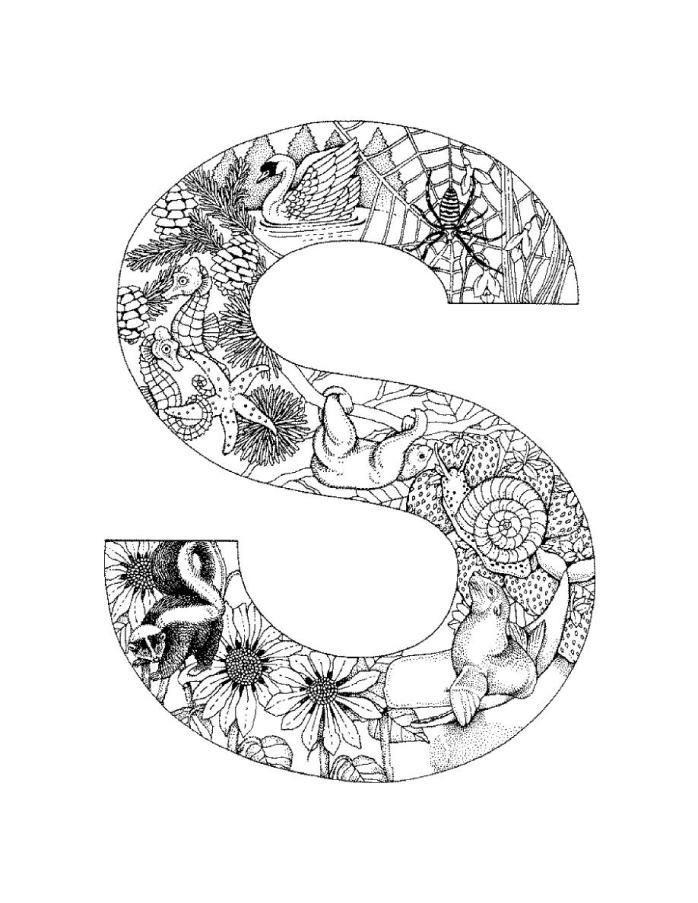 letter s coloring page get this letter s coloring pages spider slp4n s letter coloring page