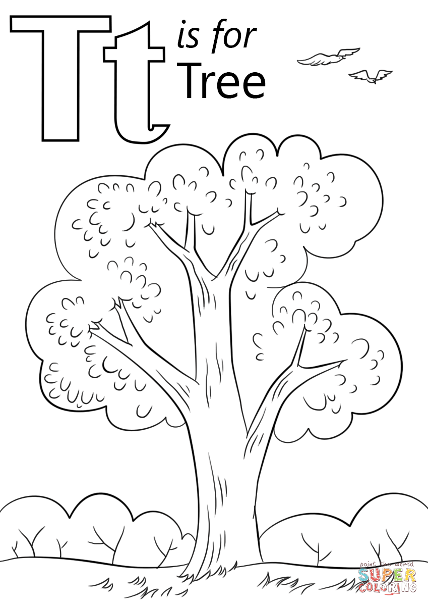 letter t coloring sheet letter t is for tree coloring page free printable t sheet coloring letter