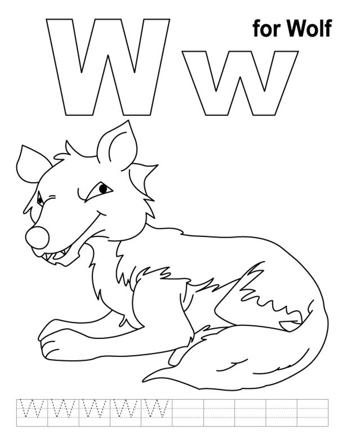 letter w coloring sheets wolf free alphabet coloring pages alphabet coloring letter coloring sheets w