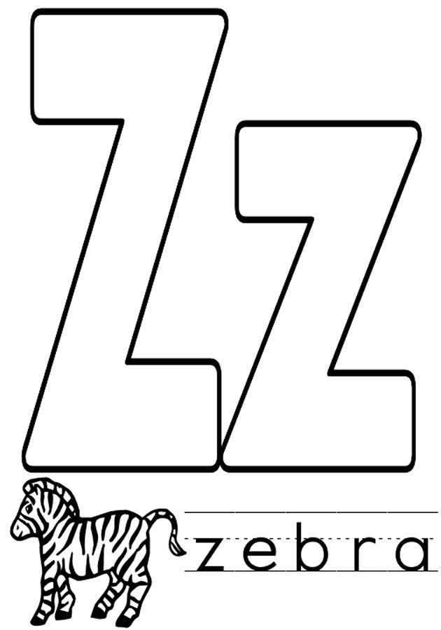 letter z coloring letter z coloring pages to download and print for free letter z coloring