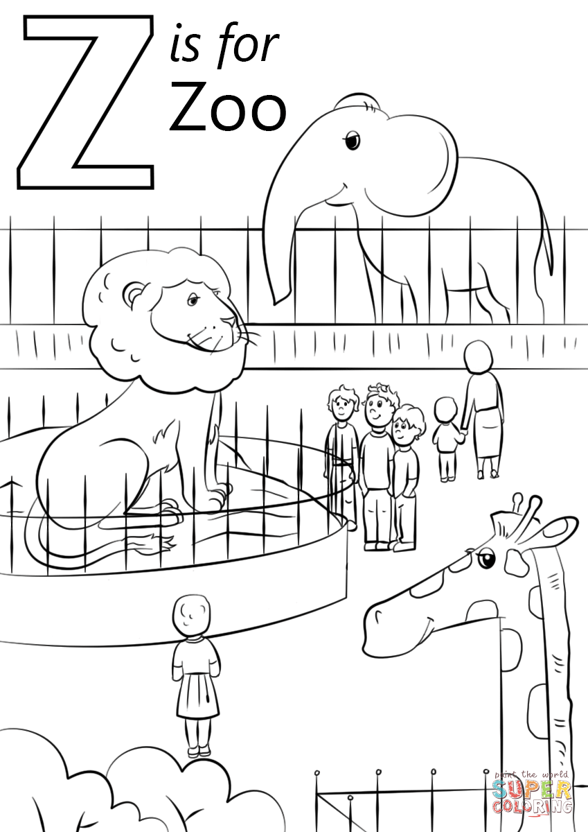 letter z coloring letter z is for zoo coloring page free printable letter coloring z