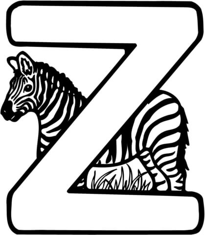 letter z coloring page coloring pages z free download on clipartmag z coloring letter page
