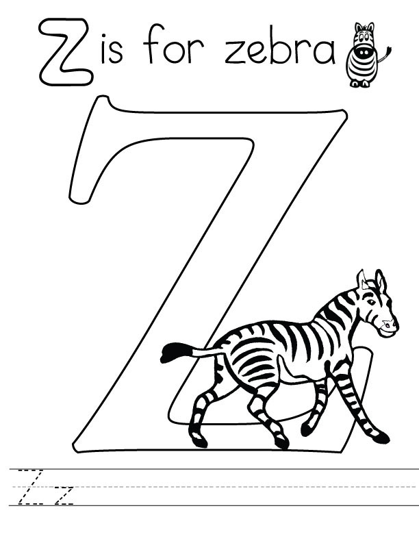letter z coloring page letter z coloring pages to download and print for free coloring page z letter