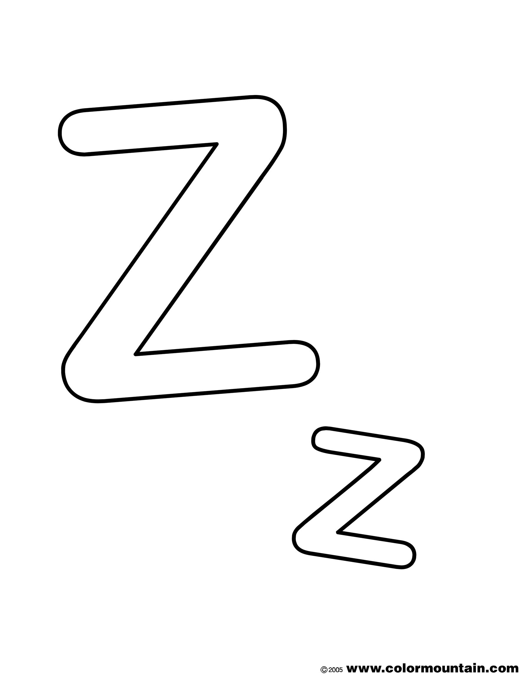 letter z coloring page letter z with animals coloring page free printable page letter z coloring
