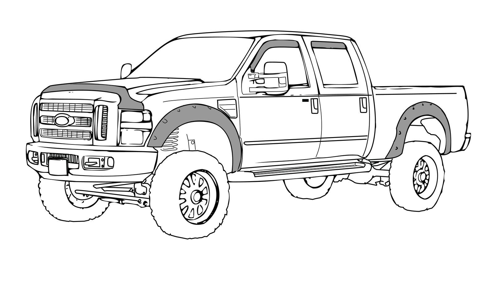 lifted truck coloring pages image result for ford f150 drawing truck coloring pages truck coloring lifted pages