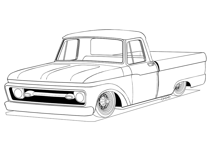 lifted truck coloring pages image title with images monster truck drawing cars pages coloring lifted truck