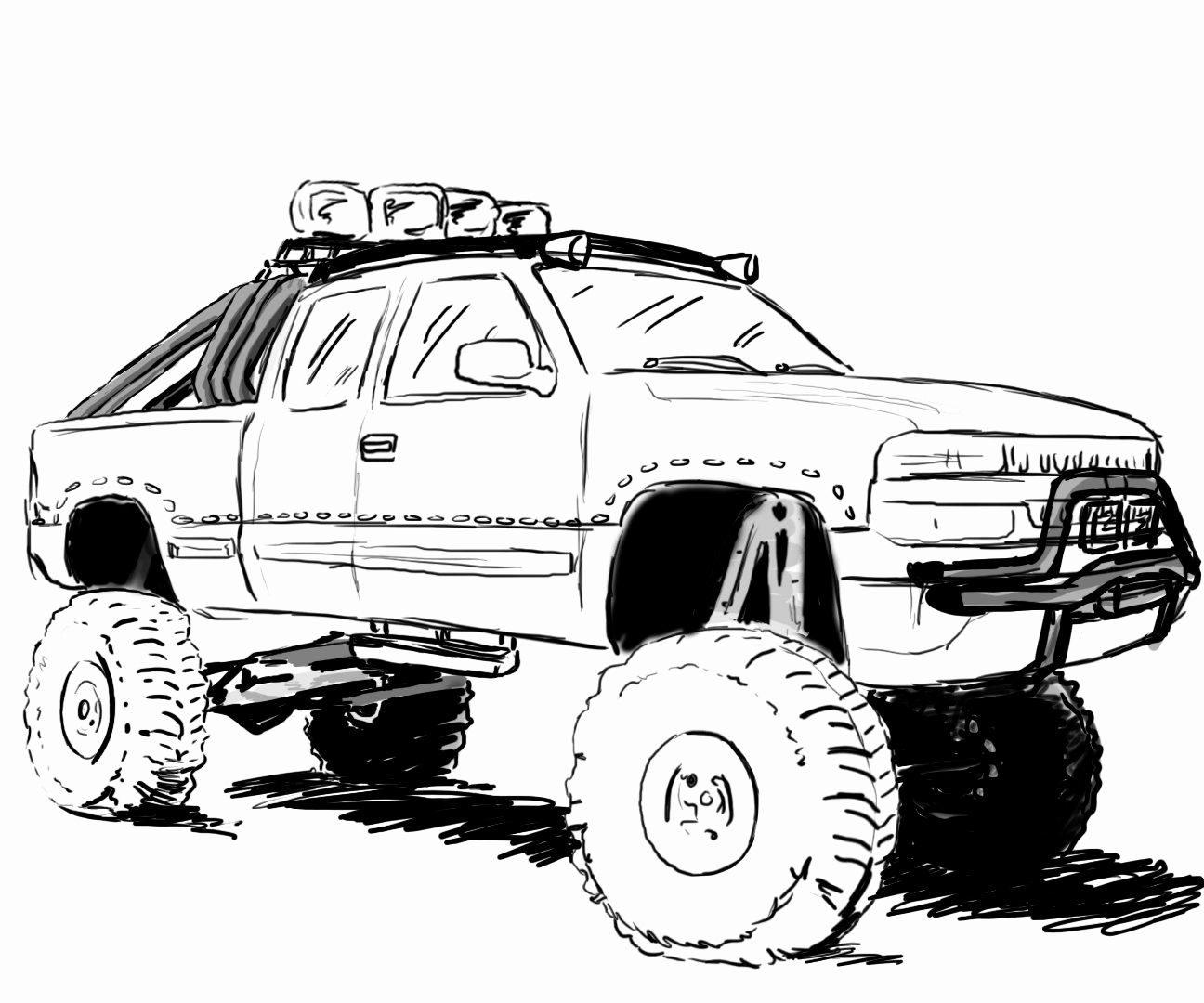 lifted truck coloring pages lifted truck coloring pages at getcoloringscom free truck coloring lifted pages