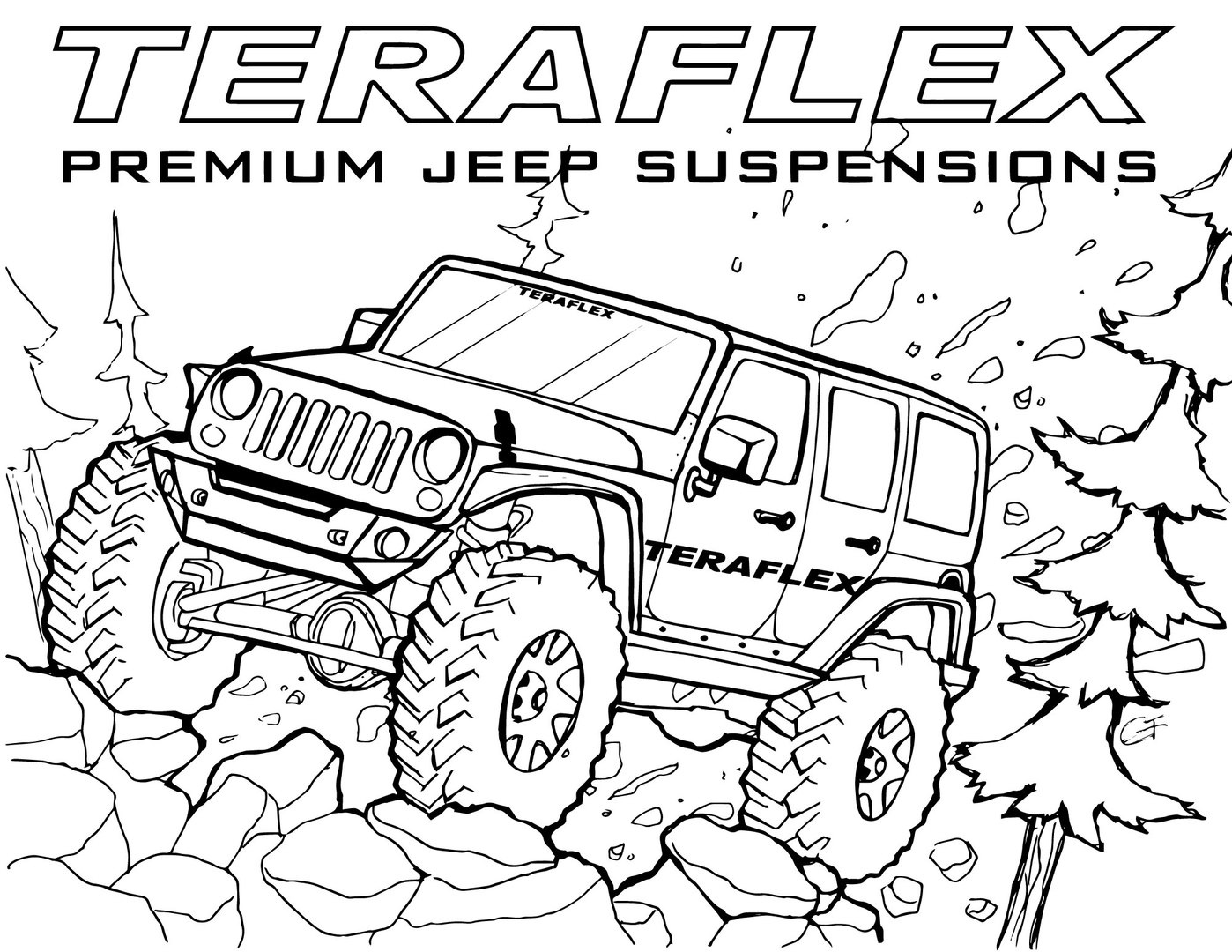 lifted truck coloring pages lifted truck drawing at getdrawings free download truck pages lifted coloring