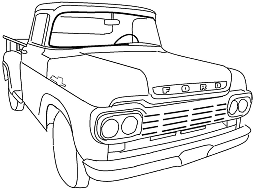 lifted truck coloring pages trophy truck drawing at getdrawings free download coloring truck pages lifted