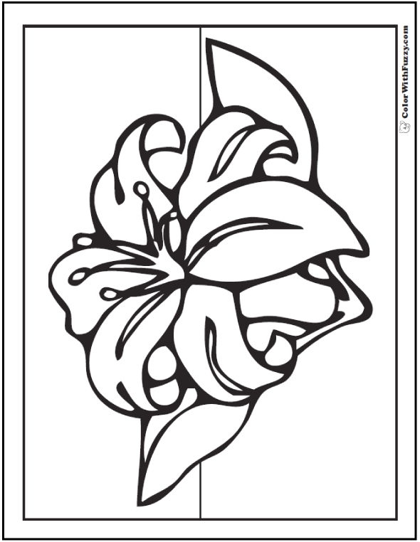 lily coloring pages coloring page lily coloring pages lily