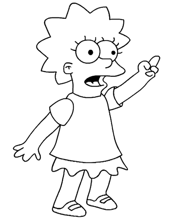 lisa simpson coloring pages how to draw lisa simpson step by step lisa pages coloring simpson
