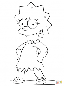 lisa simpson coloring pages lisa simpson drawing at getdrawings free download lisa simpson pages coloring