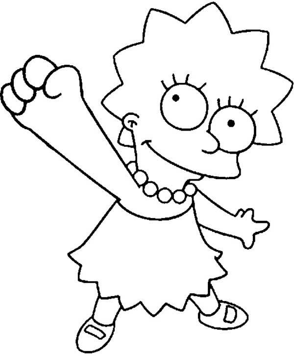 lisa simpson coloring pages simpsons coloring pages coloring pages to download and print simpson coloring lisa pages