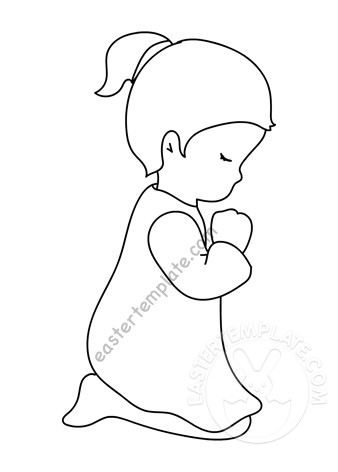 little girl praying coloring page little girl praying coloring page easter template praying little page coloring girl