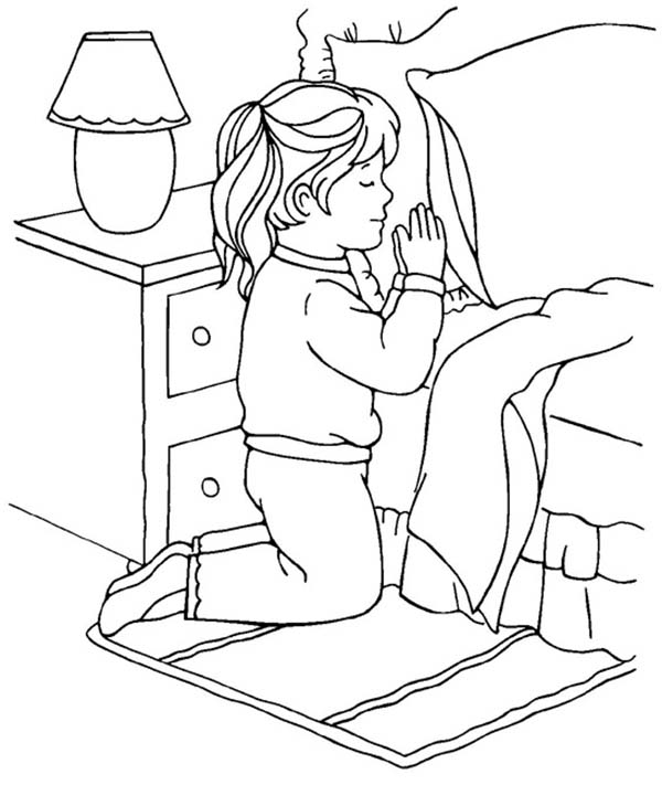 little girl praying coloring page little girl praying coloring page praying page coloring girl little