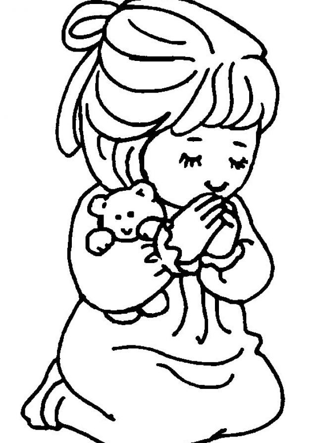 little girl praying coloring page picture of little girl praying black and white clipart coloring praying page girl little
