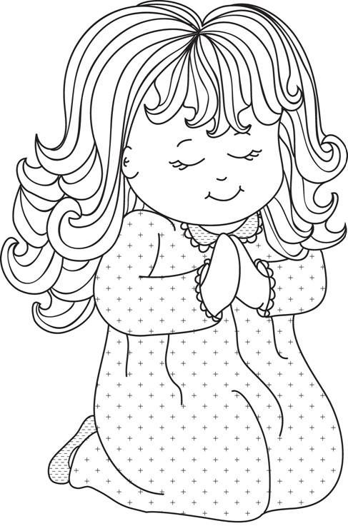 little girl praying coloring page picture of little girl praying black and white clipart praying page coloring girl little