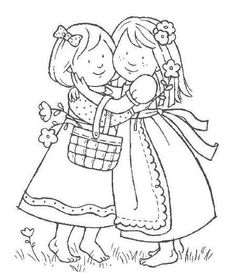 little sister coloring pages 192 best digi stamps images on pinterest little pages coloring sister