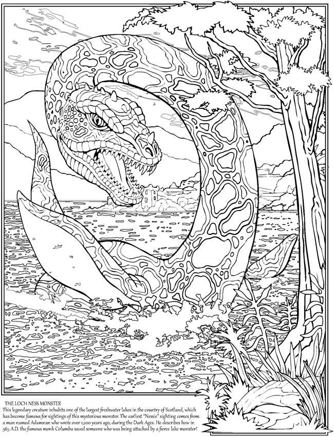 loch ness monster coloring pages cartoon loch ness monster coloring page free printable loch monster ness coloring pages