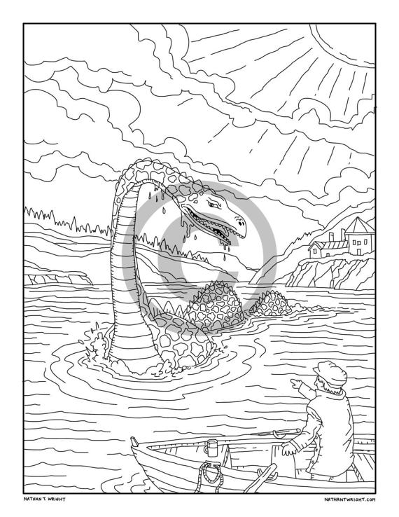 loch ness monster coloring pages loch ness monster printable coloring page by morian on pages monster ness coloring loch