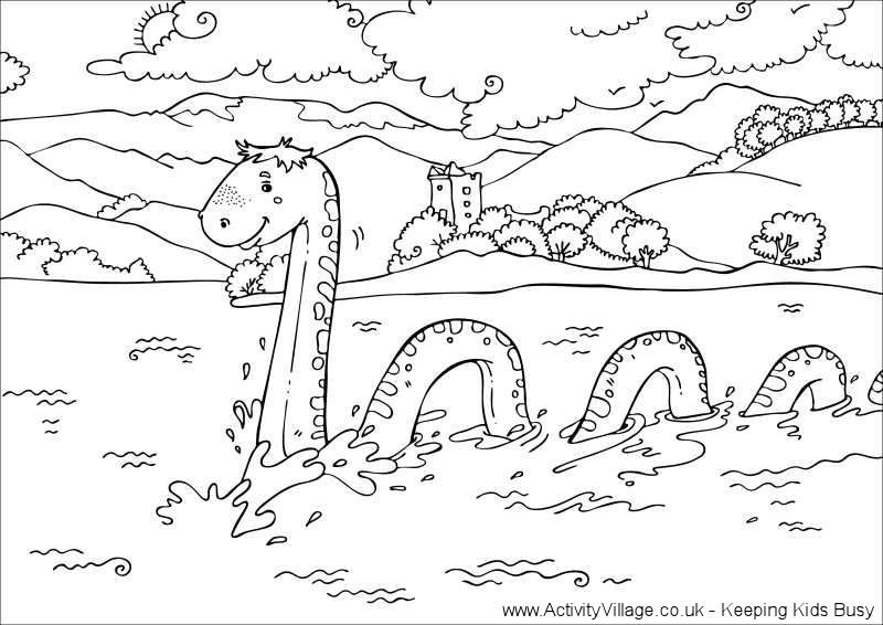 loch ness monster coloring pages nessie loch ness lake monster coloring page free ness loch monster pages coloring