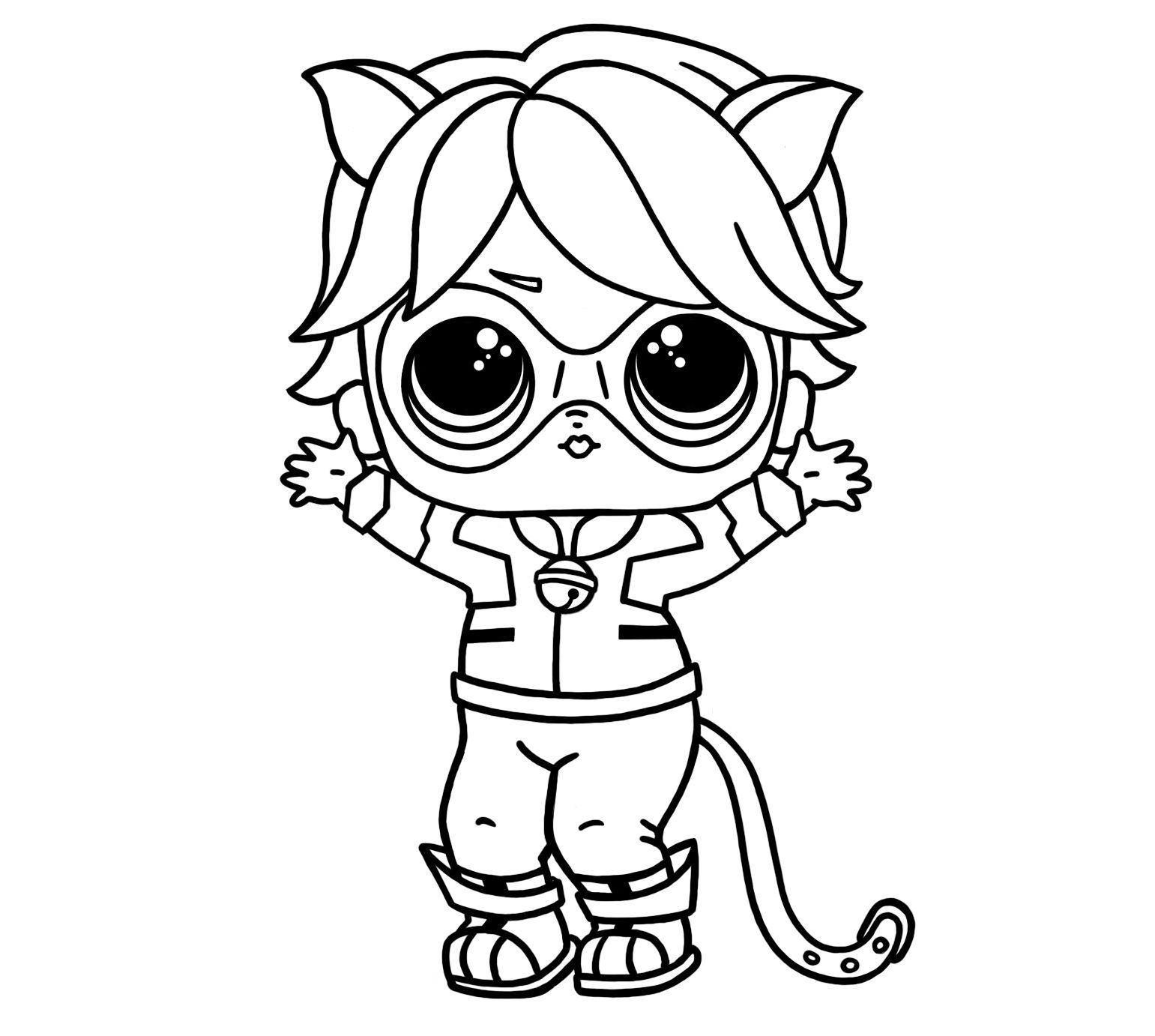lol doll cat coloring pages baby cat lol doll coloring page cat lol coloring doll pages