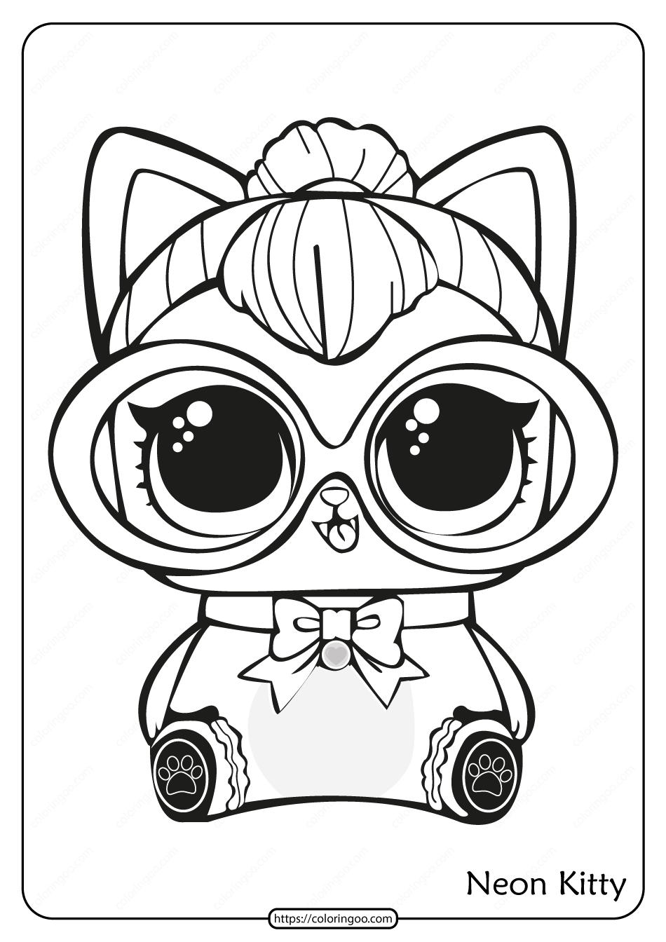 lol doll cat coloring pages free lol doll coloring sheets kitty queen unicorn doll pages coloring lol cat