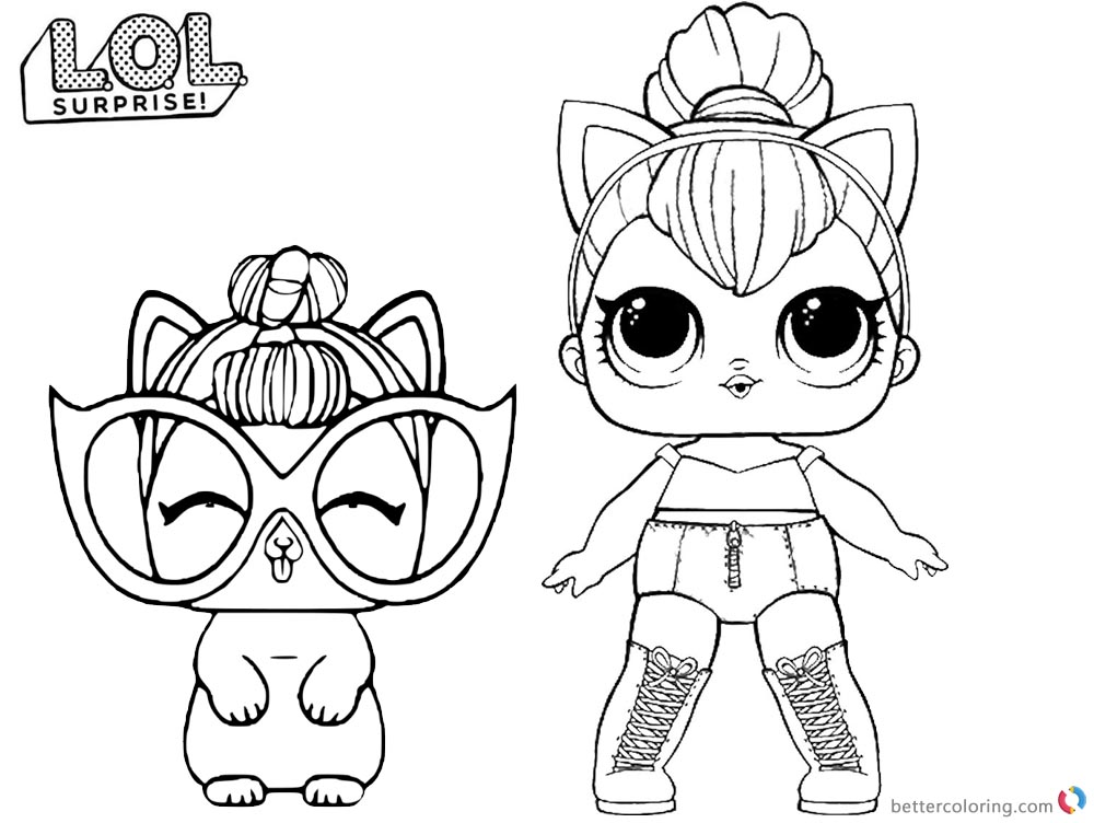 lol doll cat coloring pages lol coloring pages kitty queen free printable coloring pages lol pages cat doll coloring